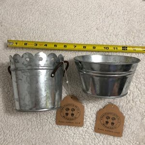 NWT Home Kreation by Kk - set of 2 buckets